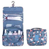 Wewoo - Le modèle accrochant multifonctionnel fleurs voyagent le sac lavage poche toilette se pliant Taille: 24.5 x 20.5 x 2.2cm