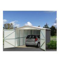 YARDMASTER - Sydney 1550 - Garage en acier - 15,50m² - Gris anthracite et alu