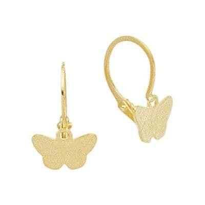 584ec54331c5e Sochicbijoux - So Chic Bijoux © Boucles d oreilles Enfant Papillons  Dormeuses - Or Jaune
