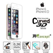 Tm Concept - Apple Iphone 6 Plus / 6S Plus - Vitre de Protection 3D Curved Blanc