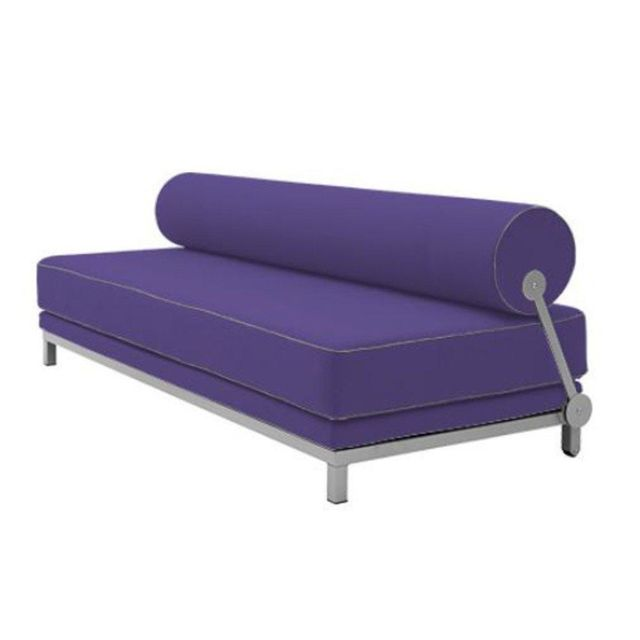 Inside 75 Canapé lit convertible design Sleep en tissu bleu indigo structure aluminium Softline