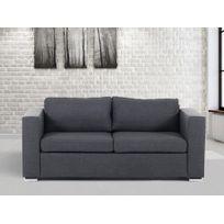Beliani - Canapé 3 places - canapé en tissu gris foncé - sofa Helsinki