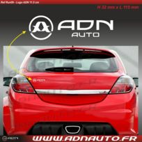 Adnauto - Autocollant - Logo horizontal - Blanc - 11.5cm - Adnlifestyle