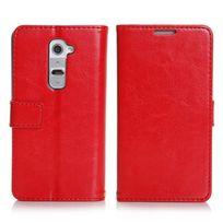 Coquediscount - Etui livre rouge pour Lg Optimus G2