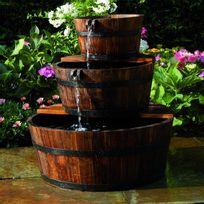 Vimeu-Outillage - Ubbink Fontaine de jardin 3 Tonneaux en cascade