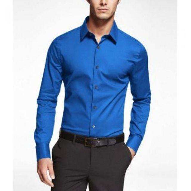 prestige man chemise bleu roi unie pas cher achat vente chemise homme rueducommerce. Black Bedroom Furniture Sets. Home Design Ideas