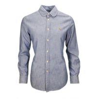 Ralph Lauren - Chemise Harper bleu chambray pour femme