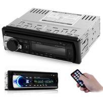 Auto-hightech - Autoradio Audio Stéréo 12 V de Voiture Bluetooth V2.0, Radio, Support Usb Aux avec Télécommande