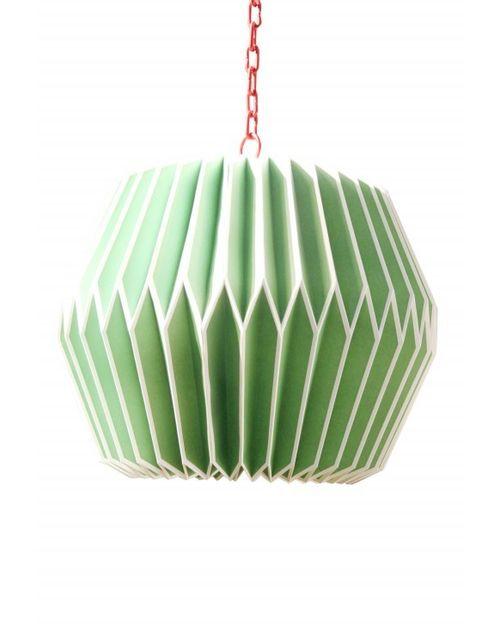 Decoshop Suspension origami en papier vert