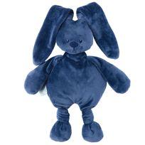 Nattou - Doudou lapin bleu marine Lapidou
