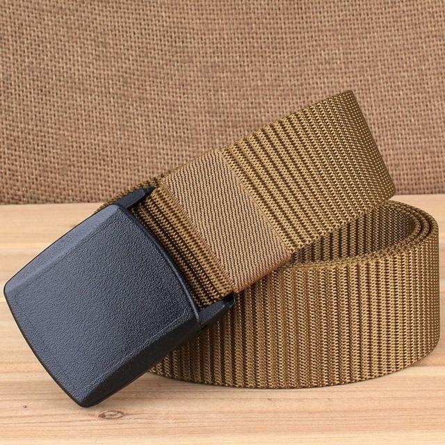 e324af25682 ... Wewoo - 3.8 cm large randonnée en plein air sport style décontracté  multifonctionnel ceinture en nylon ...