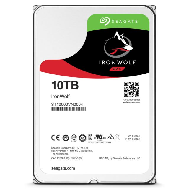SEAGATE NAS HDD IronWolf 10 To