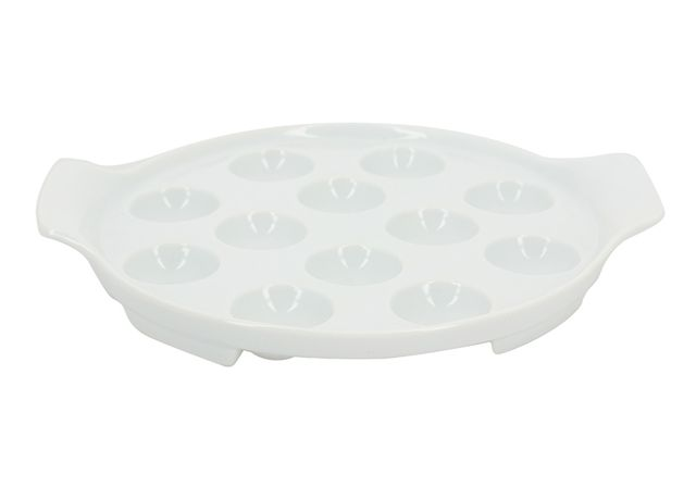 lebrun plat escargots 12 trous porcelaine pas cher achat vente service de vaisselle. Black Bedroom Furniture Sets. Home Design Ideas