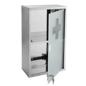 mpglass armoire pharmacie genoa m tal pas cher achat vente armoires de toilette. Black Bedroom Furniture Sets. Home Design Ideas