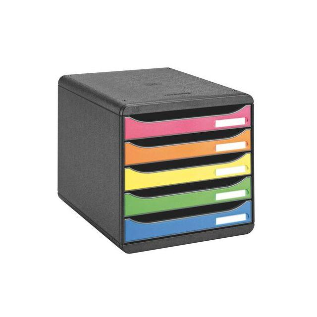 exacompta module de classement big box plus arlequin 5 tiroirs multicolores pas cher achat. Black Bedroom Furniture Sets. Home Design Ideas