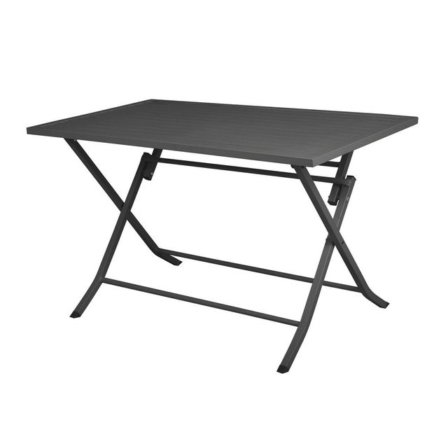 House Bay Table de jardin pliante rectangulaire en aluminium L120cm Lodge