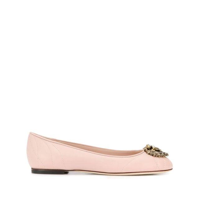 Dolce & Gabanna Dolce E Gabbana Femme Cb0173AV96780412 Rose Cuir Ballerines