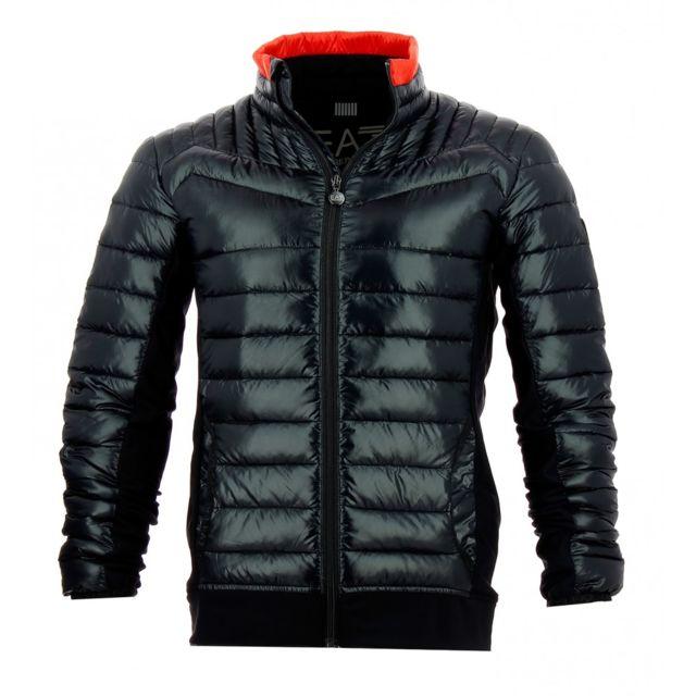 Ea7 Emporio Armani - Doudoune Noir - pas cher Achat   Vente Blouson homme -  RueDuCommerce e898c96d41b