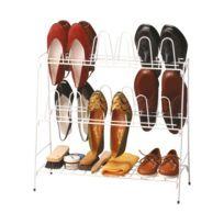 Rayen - Range chaussures avec fil plastifié - 12 paires