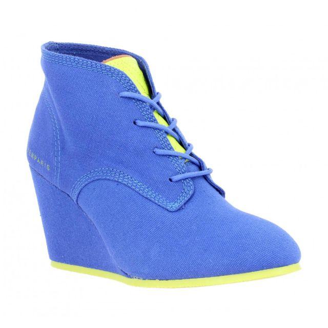 11d279eb347c7 Eleven Paris - Lanacan Fluo toile Femme-40-Bleu + jaune - pas cher Achat    Vente Baskets femme - RueDuCommerce