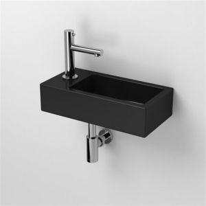rue du bain lave main rectangulaire gauche c ramique noire 45x25 cm studio pas cher. Black Bedroom Furniture Sets. Home Design Ideas