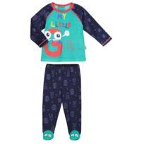 596f15769962f Petit Beguin - Pyjama bébé 2 pièces avec pieds Gang - Taille - 9 mois