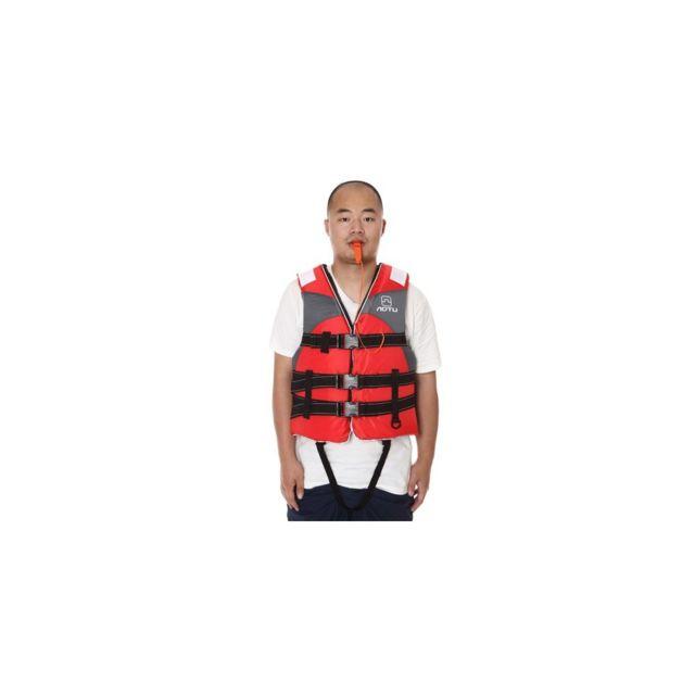 c1a74be66059 Auto-hightech - Gilet de sauvetage pour adulte avec ceinture croisée et  sifflet- Rouge - pas cher Achat   Vente Accessoires électrostimulation - ...