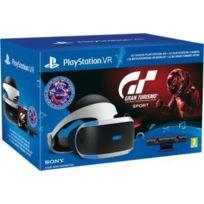 SONY - Casque PSVR + jeu PS4 Gran Turismo Sport