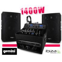 Gemini - Sono Totale 1400W Cd Ampli Enceinte Mixage Regie