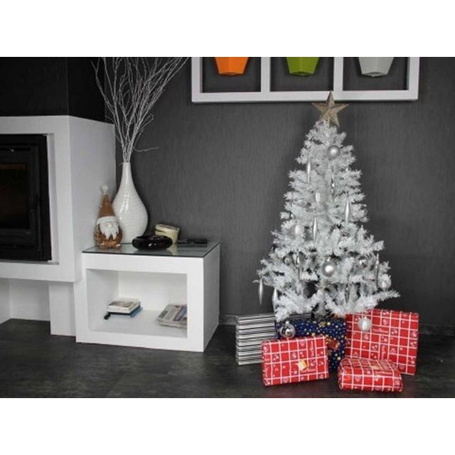 jardideco sapin de noel artificiel de luxe blanc 180 cm pas cher achat vente sapin de no l. Black Bedroom Furniture Sets. Home Design Ideas