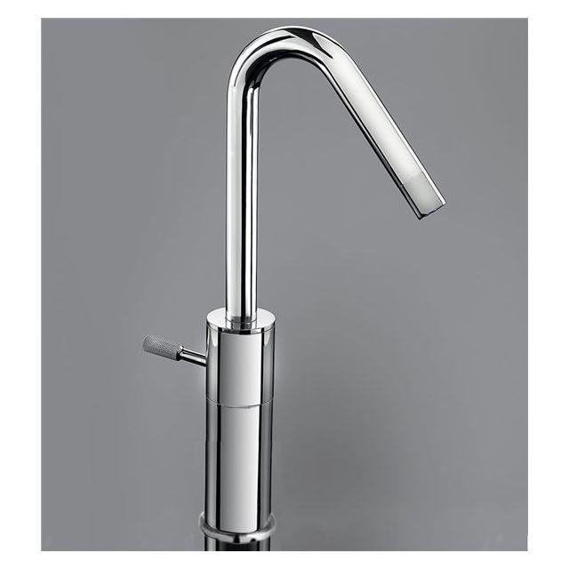 mitigeur de lavabo haut robinet pour vasque bec haut fixe chrome - Mitigeur Haut Vasque