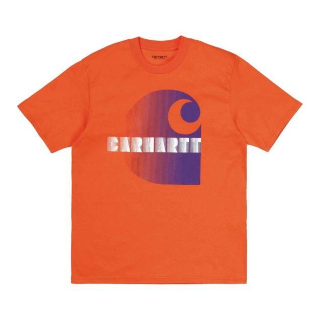 CARHARTT Homme I02780508O00 Orange Coton T-shirt