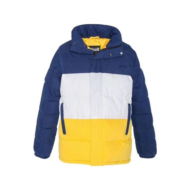 Schott - Doudounne Bleu multicolor - pas cher Achat   Vente Doudoune homme  - RueDuCommerce 3b31b5a27c9
