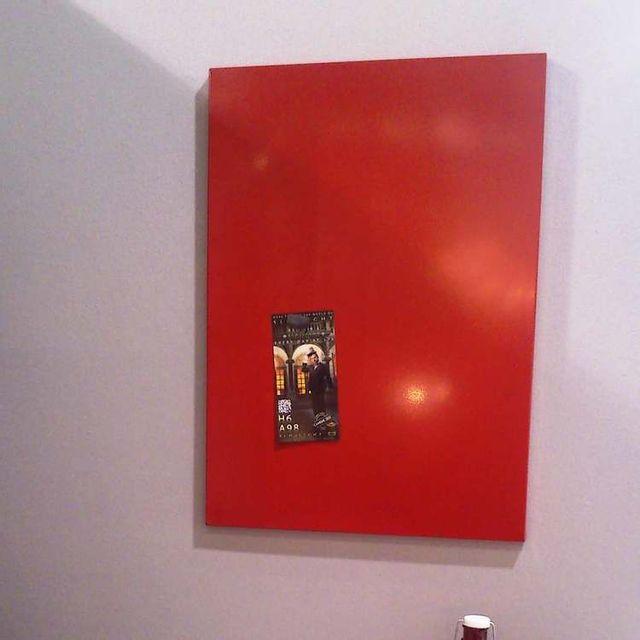 Pierre Henry Tableau magnétique métal Decor - Rouge - 78x56cm