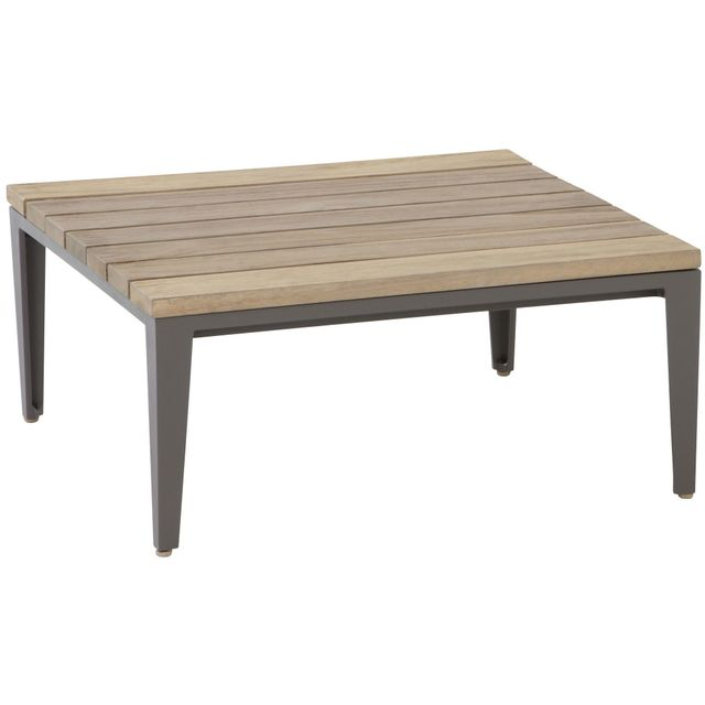 Comforium table basse de jardin 71 x 71 cm en teck for Jardin 71