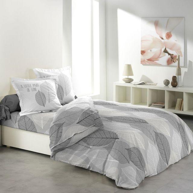 paris prix parure de draps 4 pi ces solo gris nc pas cher achat vente parures de lits. Black Bedroom Furniture Sets. Home Design Ideas