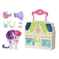 Hasbro - Mallette de jeu et figurine My Little Pony : Boutique de vêtements