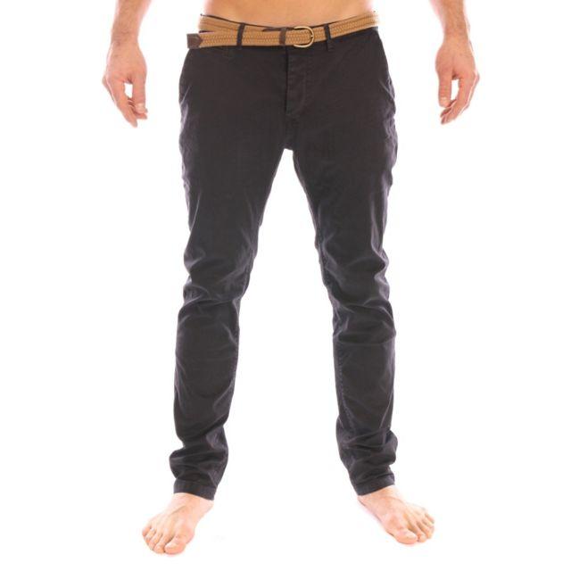 4b67385848db6 Kaporal 5 - Kaporal - Pantalon chino en jeans Calvi noir avec ...