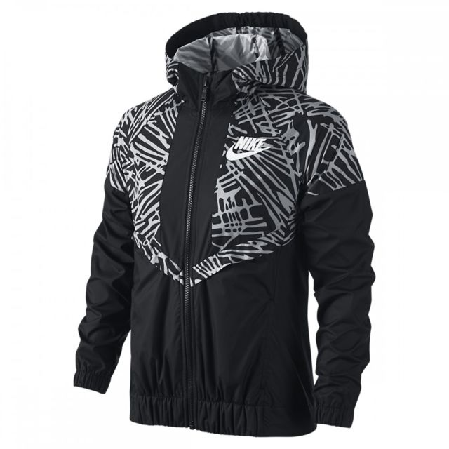 Nike - Veste Junior Tech Fleece Windrunner - 728322-010 - pas cher Achat    Vente Survêtement enfant - RueDuCommerce 76732244523c