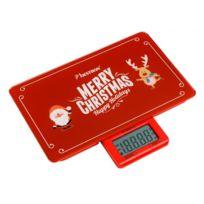 Bestron - Balance de cuisine numérique - Noël - Grand écran Lcd - Jusqu'à 5kg