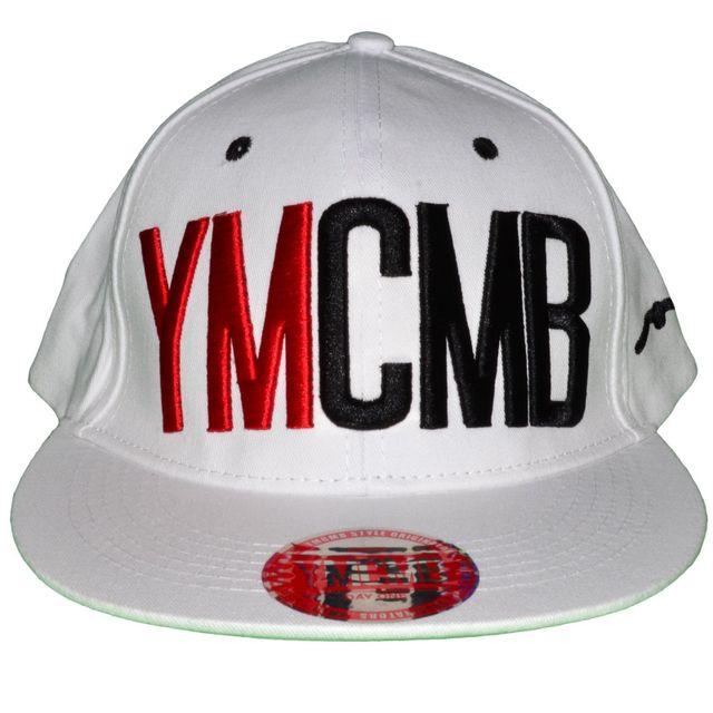 magasin en ligne 4a20d c7204 Ymcmb - Casquette Snapback - Taille Réglable - Blanc Rouge ...