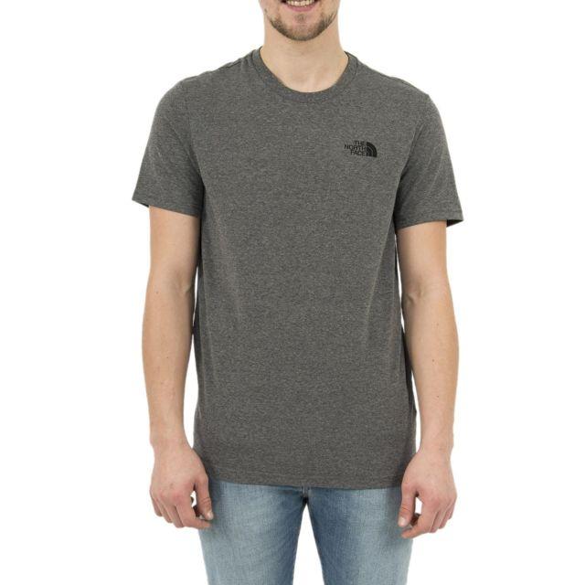 45b7e6ac13a5a The north face - Tee shirt 2tx5 simple dome gris - pas cher Achat / Vente  Tee shirt homme - RueDuCommerce