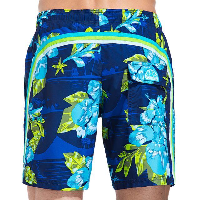 961c590a17 Sundek - Short de Bain Homme 505 Bleu Marine - pas cher Achat / Vente Short  de bain, boardshort - RueDuCommerce