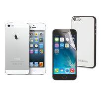 iPhone 5 - 16 Go - Argent + Film de protection Anti-choc + Coque iPhone Ultra Fine