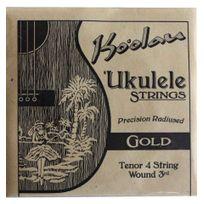 Pono Kooalau - Cordes Ukulele Tenor Ko'oalau Gold 3ième Wound