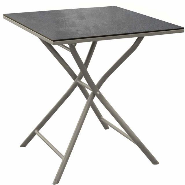 PROLOISIRS Table pliante en aluminium Azuro 70 cm