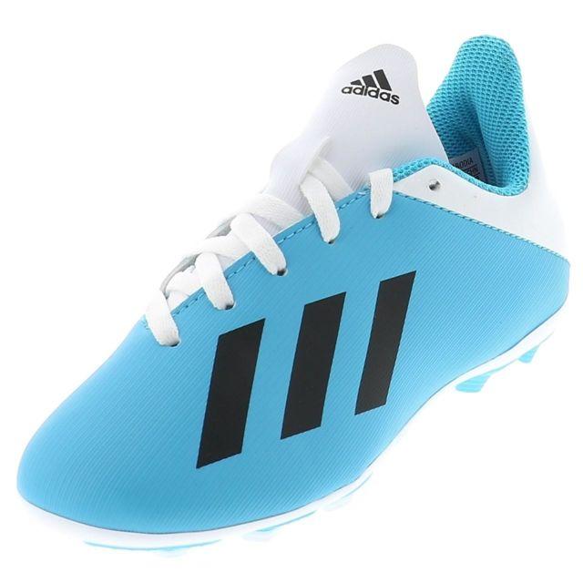 Adidas Chaussures football lamelles X19.4 fxg jr blc ciel