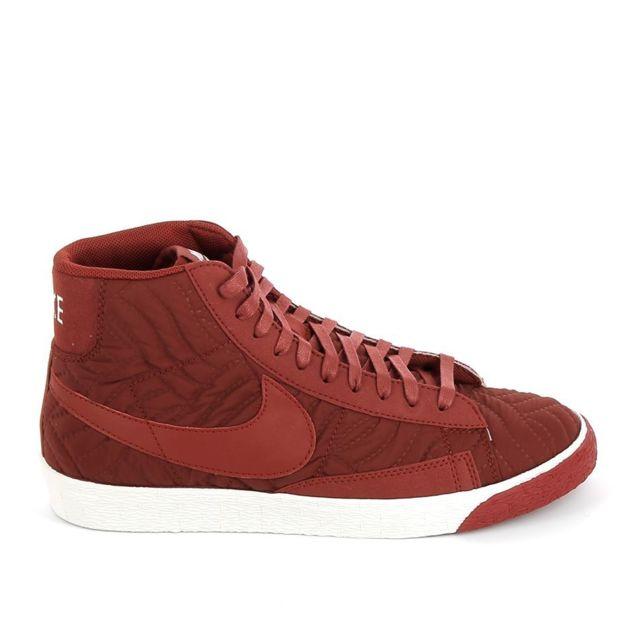 watch 6aa22 c41c5 Nike - Blazer Mid Prm Rouge - pas cher Achat / Vente Baskets femme -  RueDuCommerce