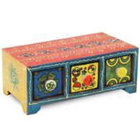 Signee - Boîte Indienne à tiroirs artisanale