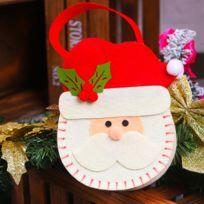fed276287d Wewoo - Creative Cartoon Style Noël Décoration Santa Cadeau Sac, Motif Non-Tissé  Tissu